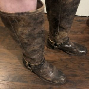 Frye 'Phillip' Studded Harness Tall Riding Boots